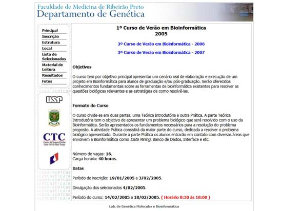 Summer Course on Bioinformatics - 2005