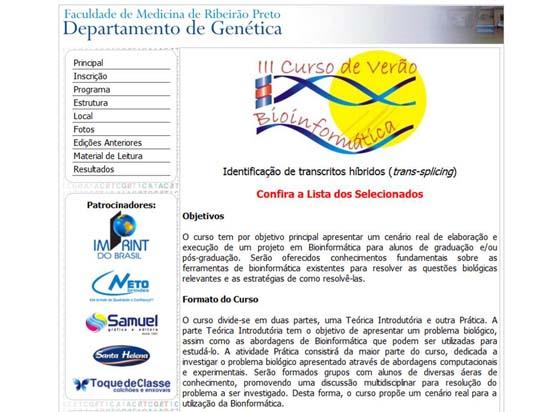 Summer Course on Bioinformatics - 2007