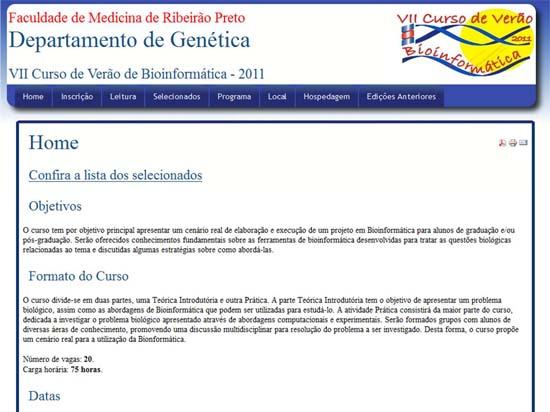 Summer Course on Bioinformatics - 2011